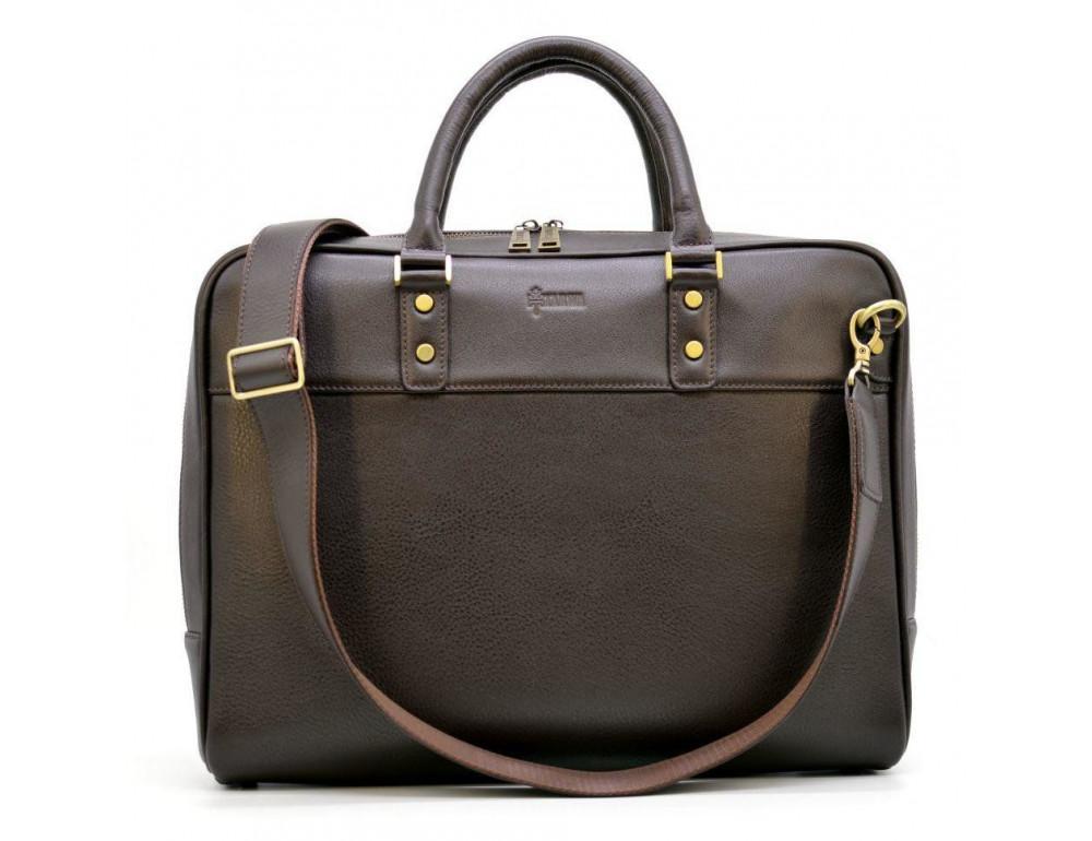 Коричневый кожаный портфель TARWA TC-4765-4lx - Фото № 1