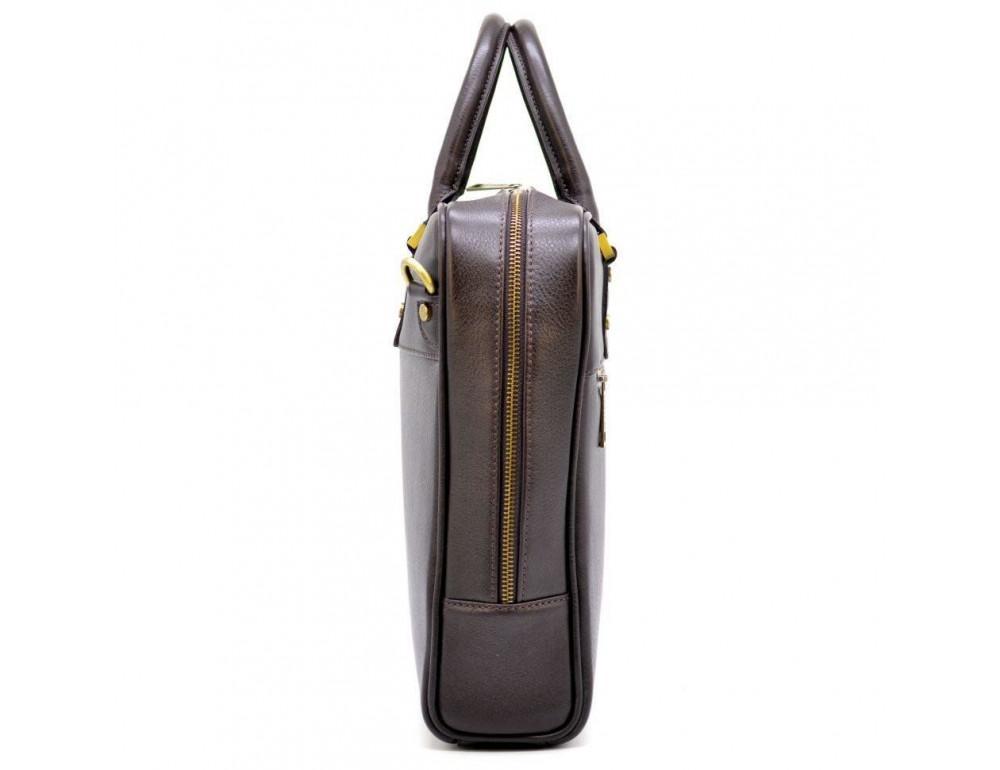 Коричневый кожаный портфель TARWA TC-4765-4lx - Фото № 4