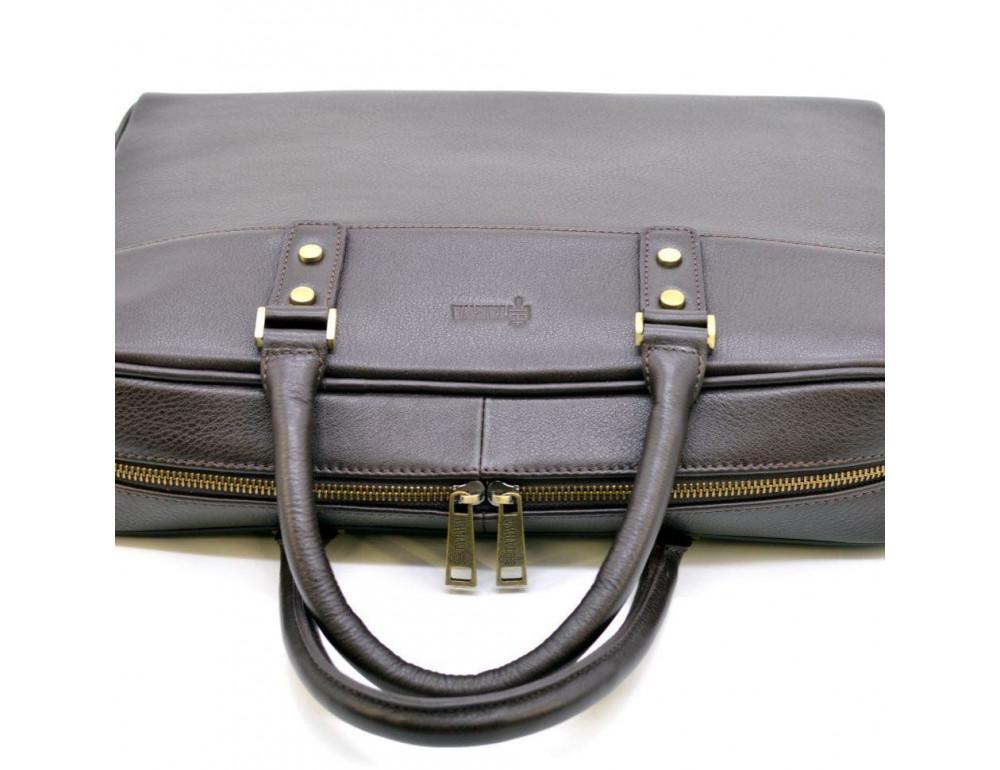 Коричневый кожаный портфель TARWA TC-4765-4lx - Фото № 7