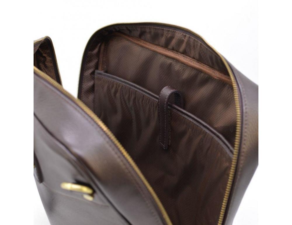 Коричневый кожаный портфель TARWA TC-4765-4lx - Фото № 8