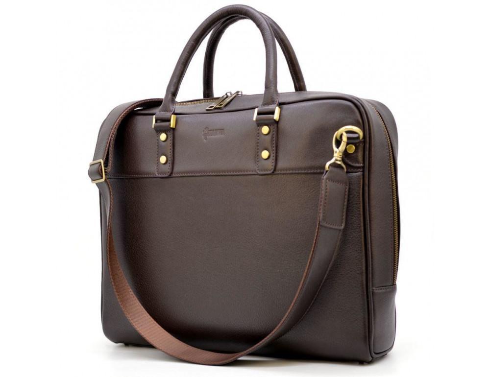 Коричневый кожаный портфель TARWA TC-4765-4lx - Фото № 9