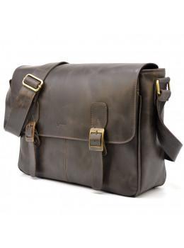 Коричнева сумка через плече для ноутбука і документів TARWA TC-7022-3md