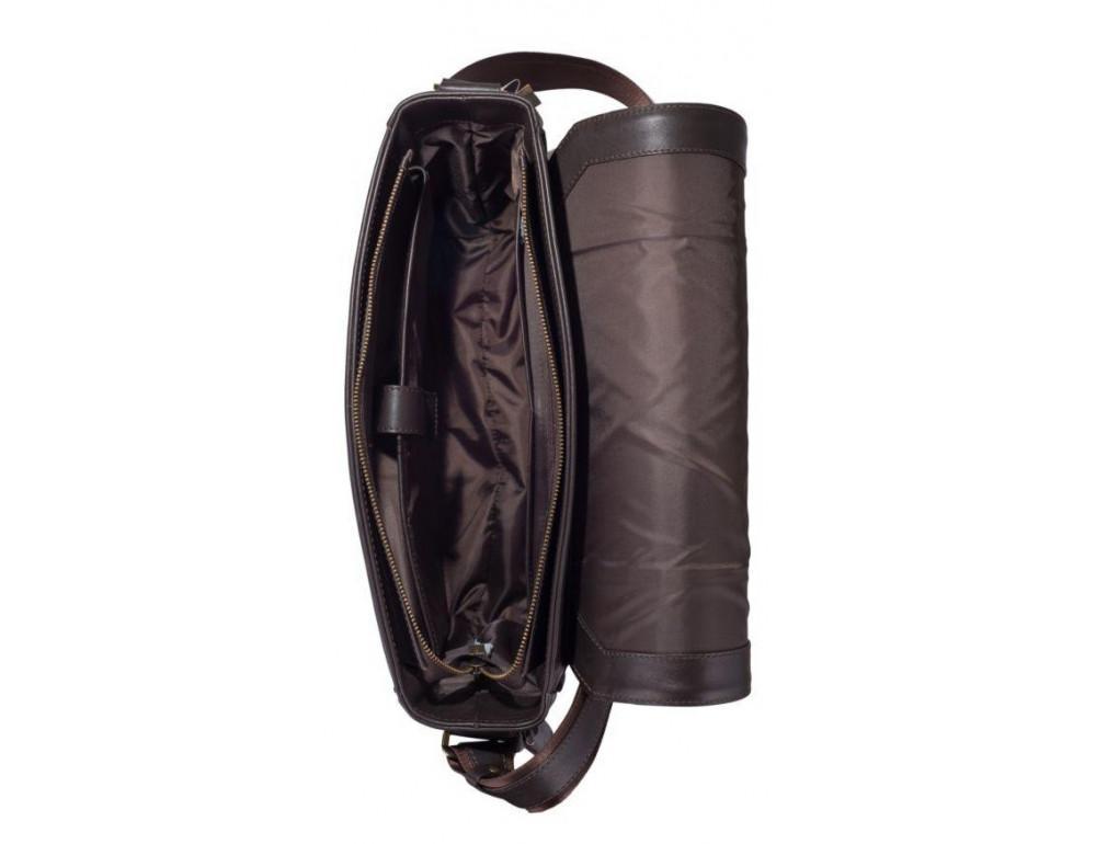 Тёмно-коричневая сумка на плечо мужская из натуральной кожи TARWA TC-7338-4lx - Фото № 2