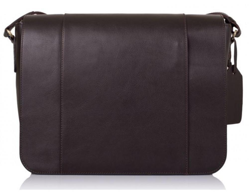Тёмно-коричневая сумка на плечо мужская из натуральной кожи TARWA TC-7338-4lx - Фото № 6