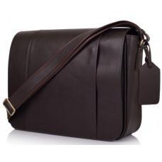 Тёмно-коричневая сумка на плечо мужская из натуральной кожи TARWA TC-7338-4lx