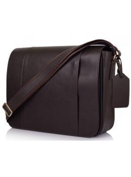 Темно-коричнева сумка на плече чоловіча з натуральної шкіри TARWA TC-7338-4lx
