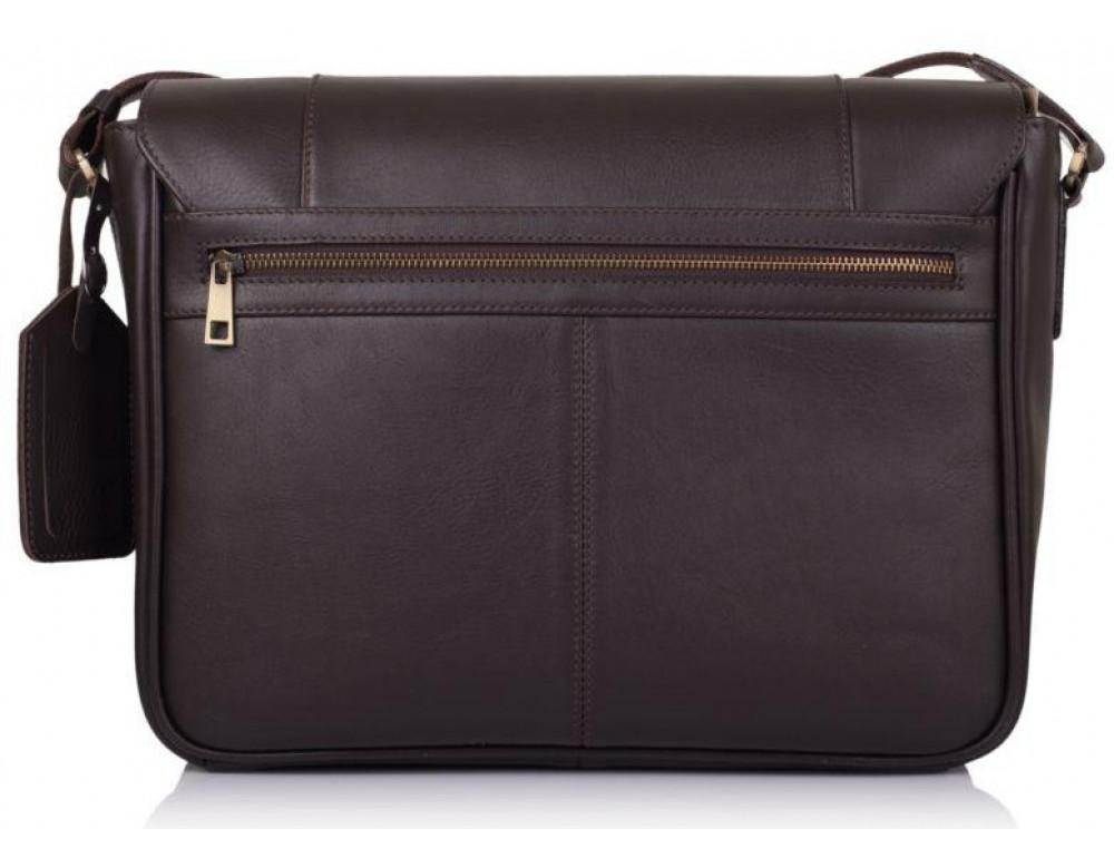 Тёмно-коричневая сумка на плечо мужская из натуральной кожи TARWA TC-7338-4lx - Фото № 3