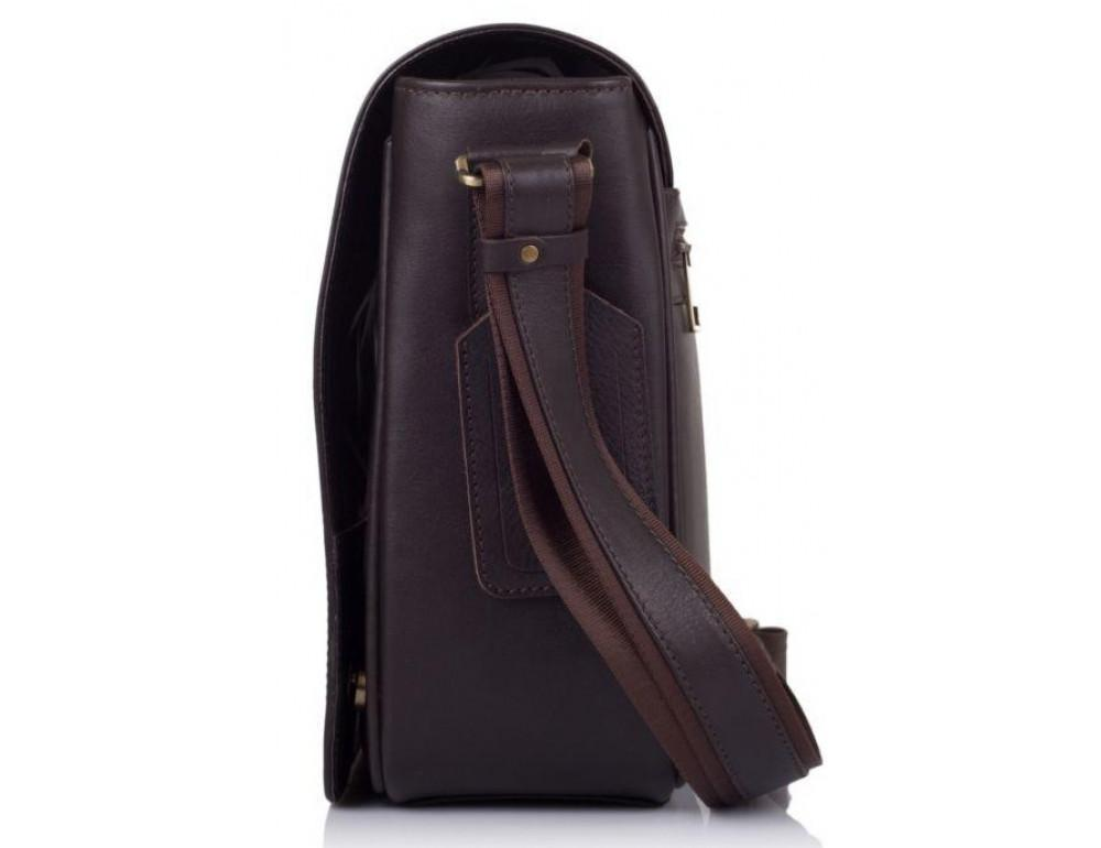 Тёмно-коричневая сумка на плечо мужская из натуральной кожи TARWA TC-7338-4lx - Фото № 4
