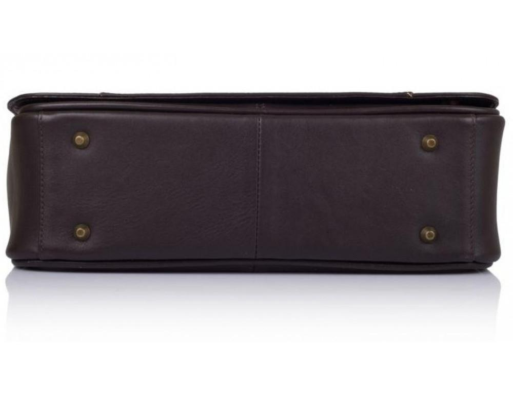 Тёмно-коричневая сумка на плечо мужская из натуральной кожи TARWA TC-7338-4lx - Фото № 5