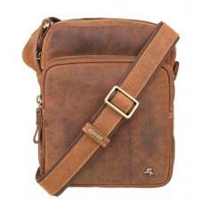 Маленькая кожаная сумка через плечо Visconti TC68 TAN
