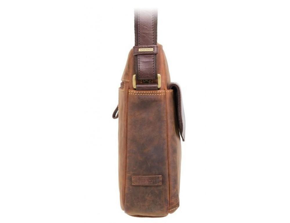 Коричневая мужская сумка на плечо Visconti TC70 OIL TAN - Vesper A5  - Фото № 4