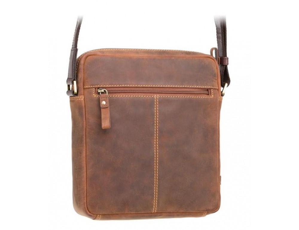 Коричневая мужская сумка на плечо Visconti TC70 OIL TAN - Vesper A5  - Фото № 5
