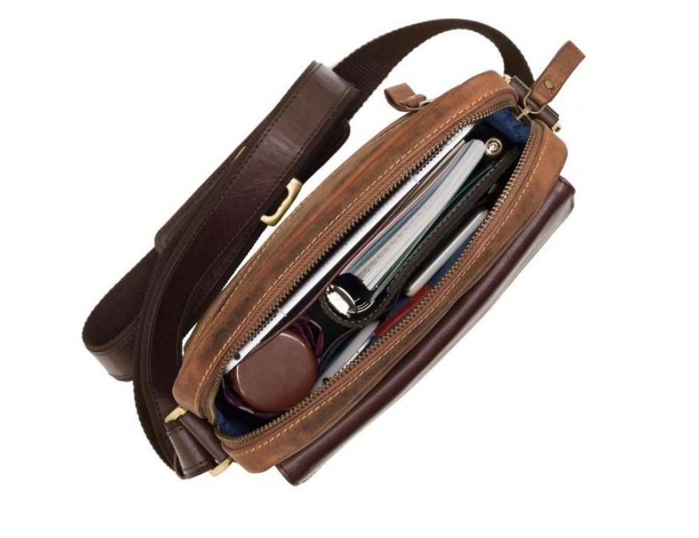 Коричневая мужская сумка на плечо Visconti TC70 OIL TAN - Vesper A5  - Фото № 6