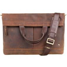 Коричневая мужская сумка для ноутбука Visconti TC74 OIL TAN - Axe винтажная