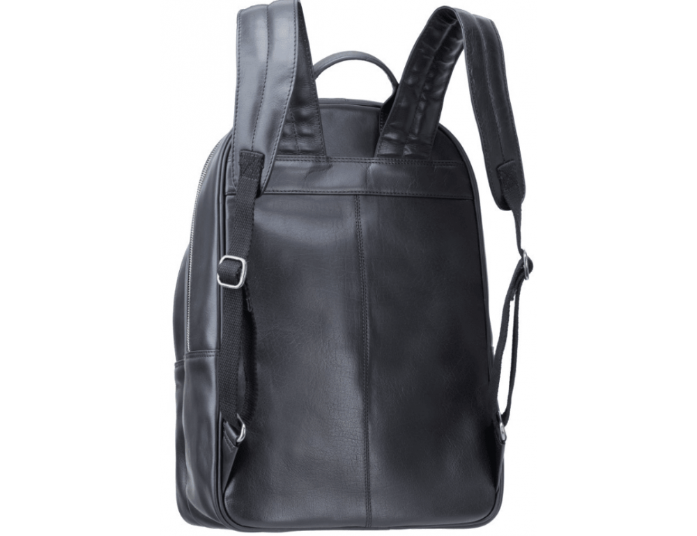 Чёрный кожаный рюкзак мужской Visconti TC80 BLK - Фото № 2