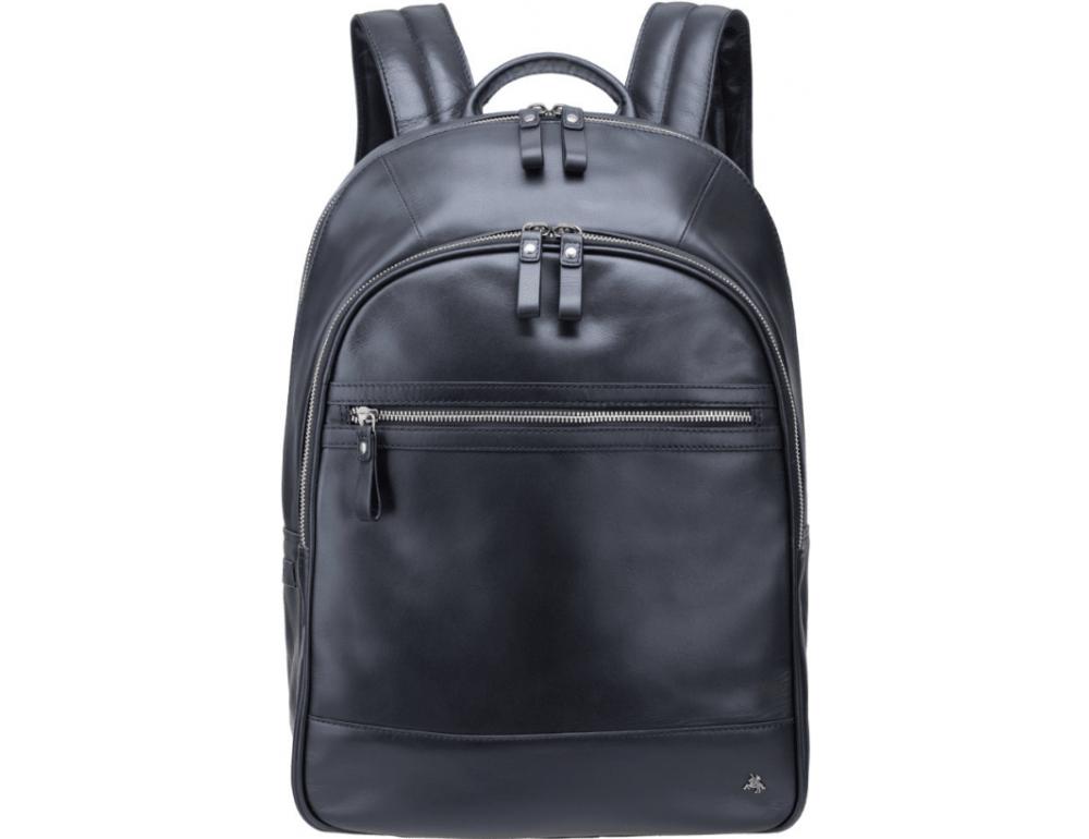 Чёрный кожаный рюкзак мужской Visconti TC80 BLK