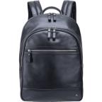 Чёрный кожаный рюкзак мужской Visconti TC80 BLK - Фото № 100