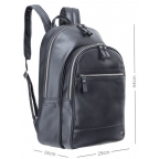 Чёрный кожаный рюкзак мужской Visconti TC80 BLK - Фото № 103