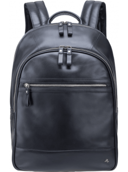 Чорний шкіряний рюкзак чоловічий Visconti TC80 BLK