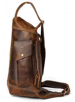 Коричневая сумка-слинг большого размера Tiding Bag TD14782C