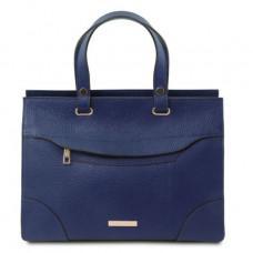 Тёмно-синяя кожаная сумка женская Tuscany Leather TL142079 Dark Blue