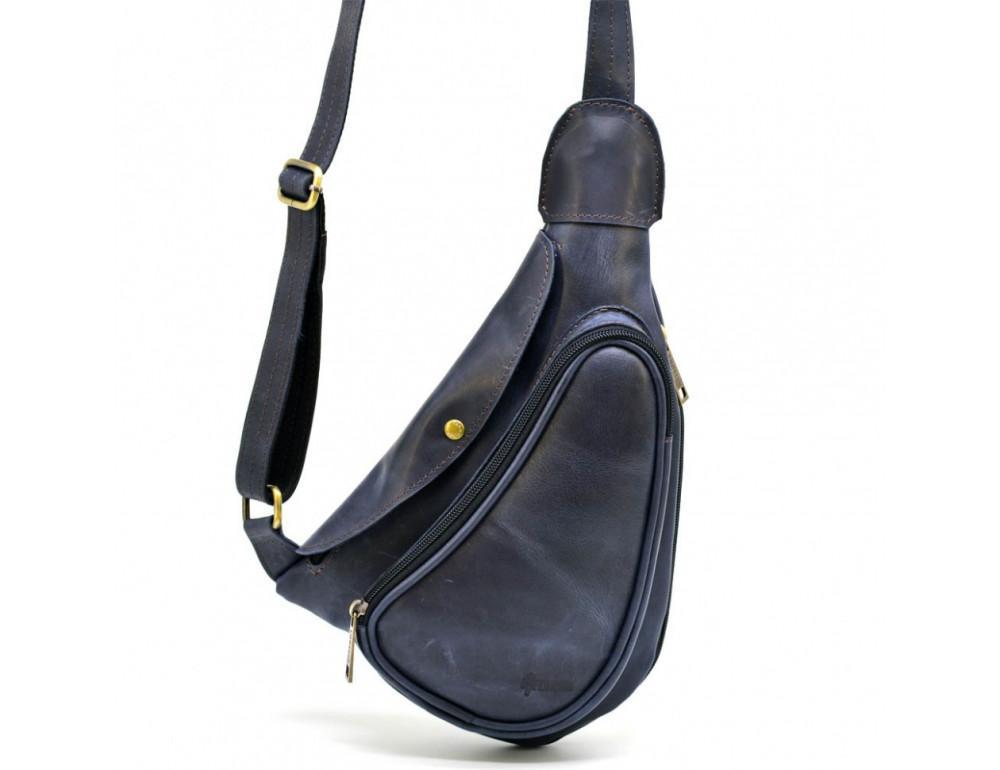 Синяя кожаная сумка через плечо TARWA TK-3026-3md - Фото № 1