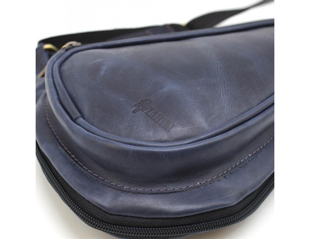 Синяя кожаная сумка через плечо TARWA TK-3026-3md - Фото № 6