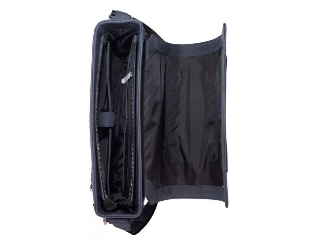 Синяя кожаная сумка через плечо TARWA TK-7338-3md - Фото № 2