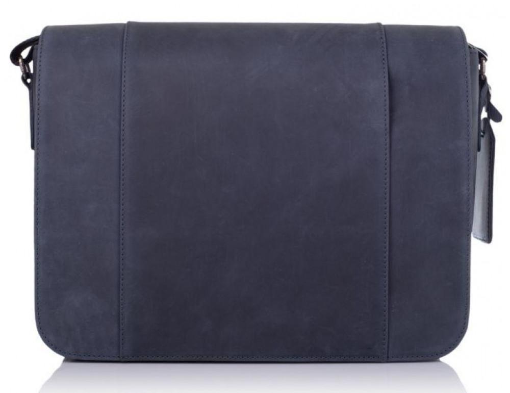 Синяя кожаная сумка через плечо TARWA TK-7338-3md - Фото № 3
