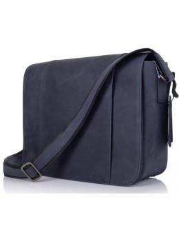 Синя шкіряна сумка через плече TARWA TK-7338-3md
