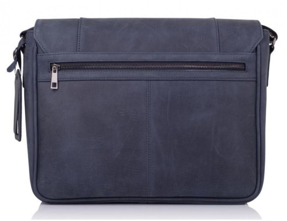 Синяя кожаная сумка через плечо TARWA TK-7338-3md - Фото № 4