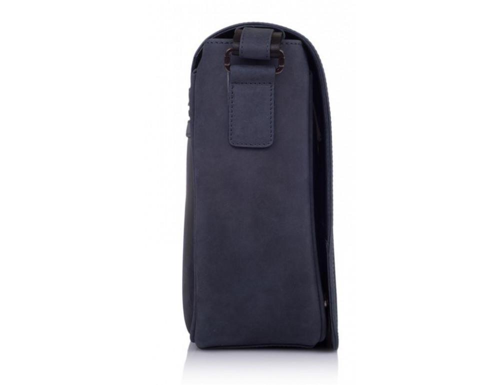 Синяя кожаная сумка через плечо TARWA TK-7338-3md - Фото № 5