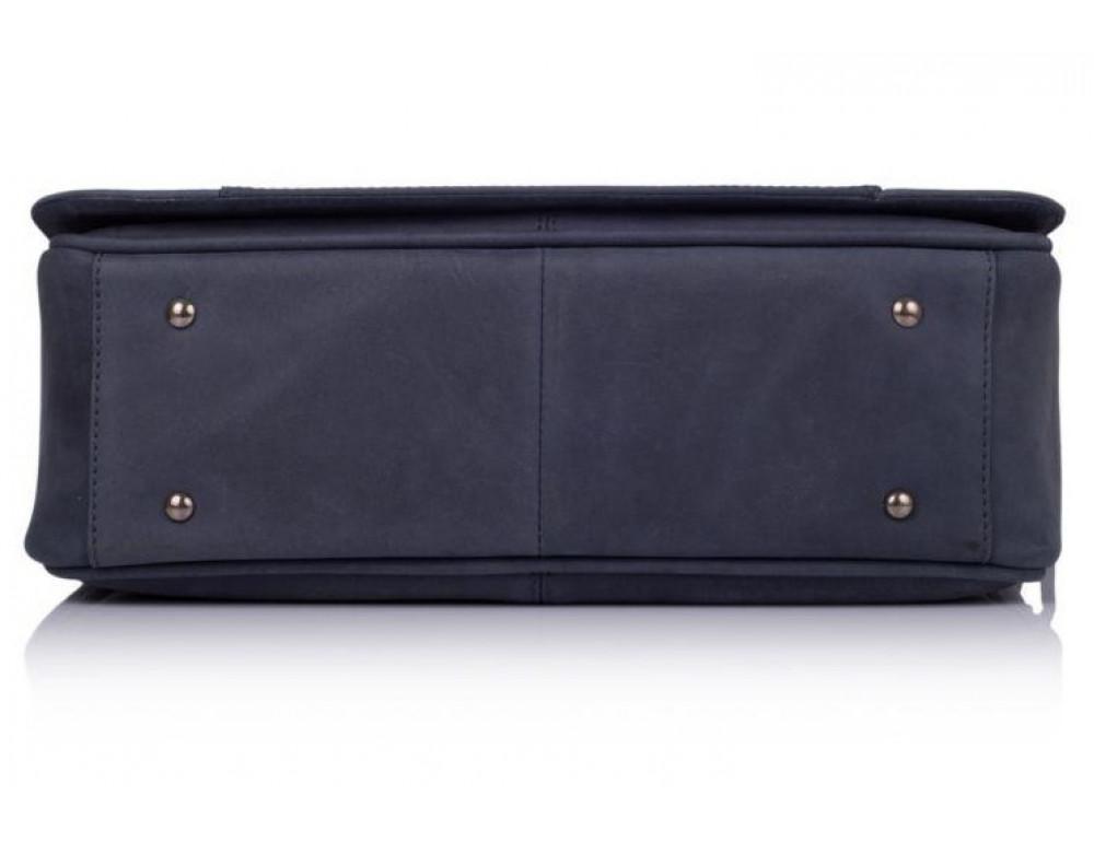 Синяя кожаная сумка через плечо TARWA TK-7338-3md - Фото № 6