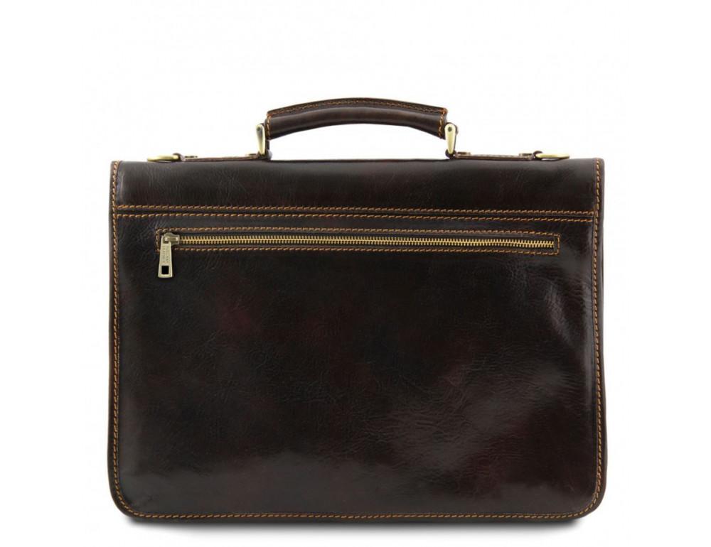 Мужской портфель из итальянской кожи Tuscany Leather TL10029 Brown - Фото № 3