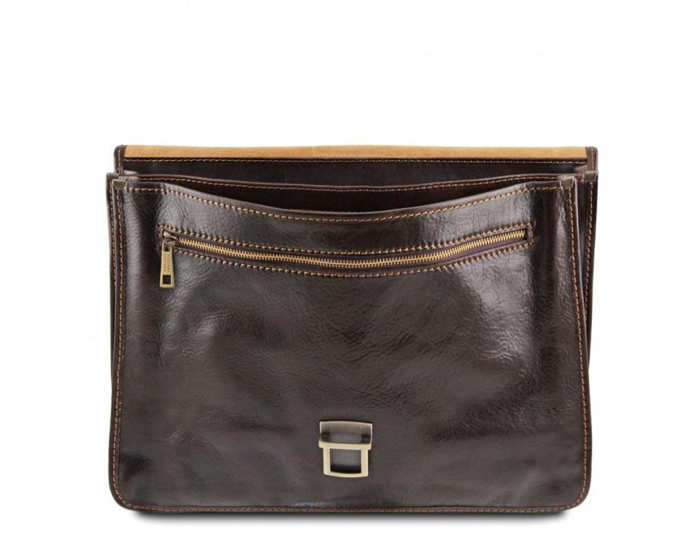 Мужской портфель из итальянской кожи Tuscany Leather TL10029 Brown - Фото № 4