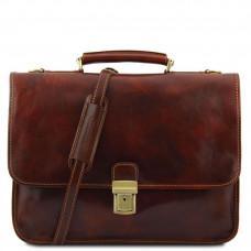 Мужской портфель из итальянской кожи Tuscany Leather TL10029 Brown
