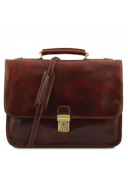 Чоловічий портфель зі італійської шкіри Tuscany Leather TL10029 Brown