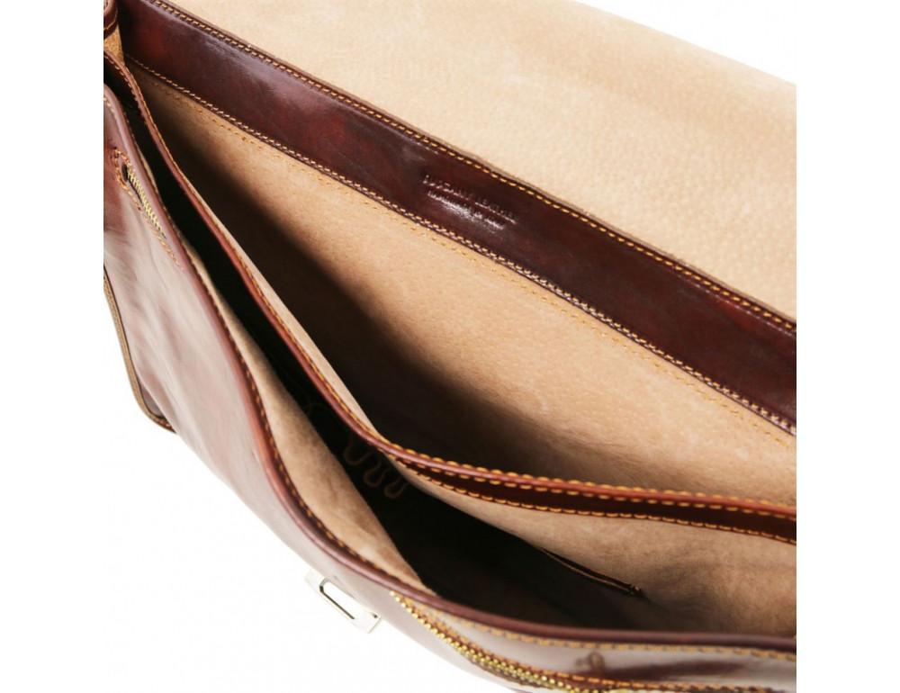 Мужской портфель из итальянской кожи Tuscany Leather TL10029 Brown - Фото № 6