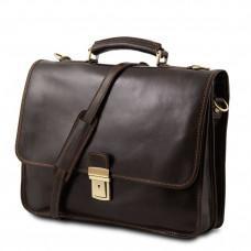 Кожаный мужской портфель Tuscany Leather TL10029 Dark Brown