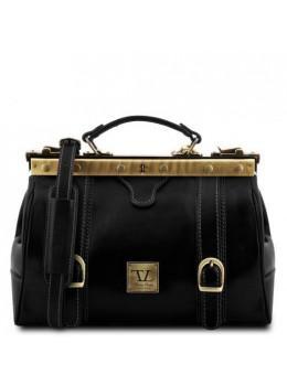 Маленький шкіряний саквояж Tuscany Leather TL10034 Black