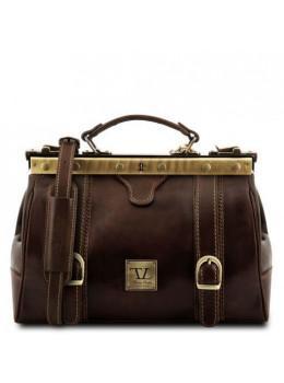 Коричневий маленький саквояж Tuscany Leather TL10034 Dark Brown