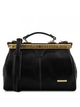 Маленька шкіряна сумка саквояж MICHELANGELO Tuscany Leather TL10038 Black