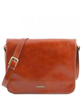 Светло-коричневая большая сумка через плечо для мужчины Tuscany Leather TL141254 Med