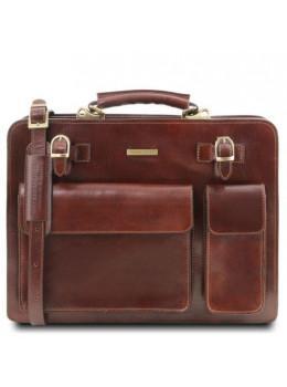 Коричневый мужской портфель без клапана Tuscany Leather TL141268 Brown