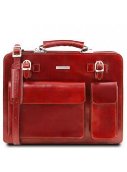 Красный мужской кожаный портфель Tuscany Leather TL141268 Red