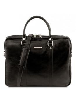 Жіноча ділова сумка з натуральної шкіри Tuscany Leather TL141283 Black