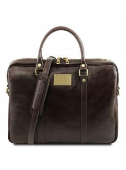 Жіноча шкіряна ділова сумка Tuscany Leather TL141283 Dark Brown