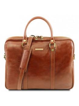 Світло-коричнева жіночий діловий сумка Tuscany Leather TL141283 Med