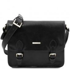 Мужская сумка мессенджер POSTMAN Tuscany Leather tl141288 Black