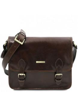 Тёмно-коричневая мужская сумка POSTMAN Tuscany Leather tl141288 Dark Brown